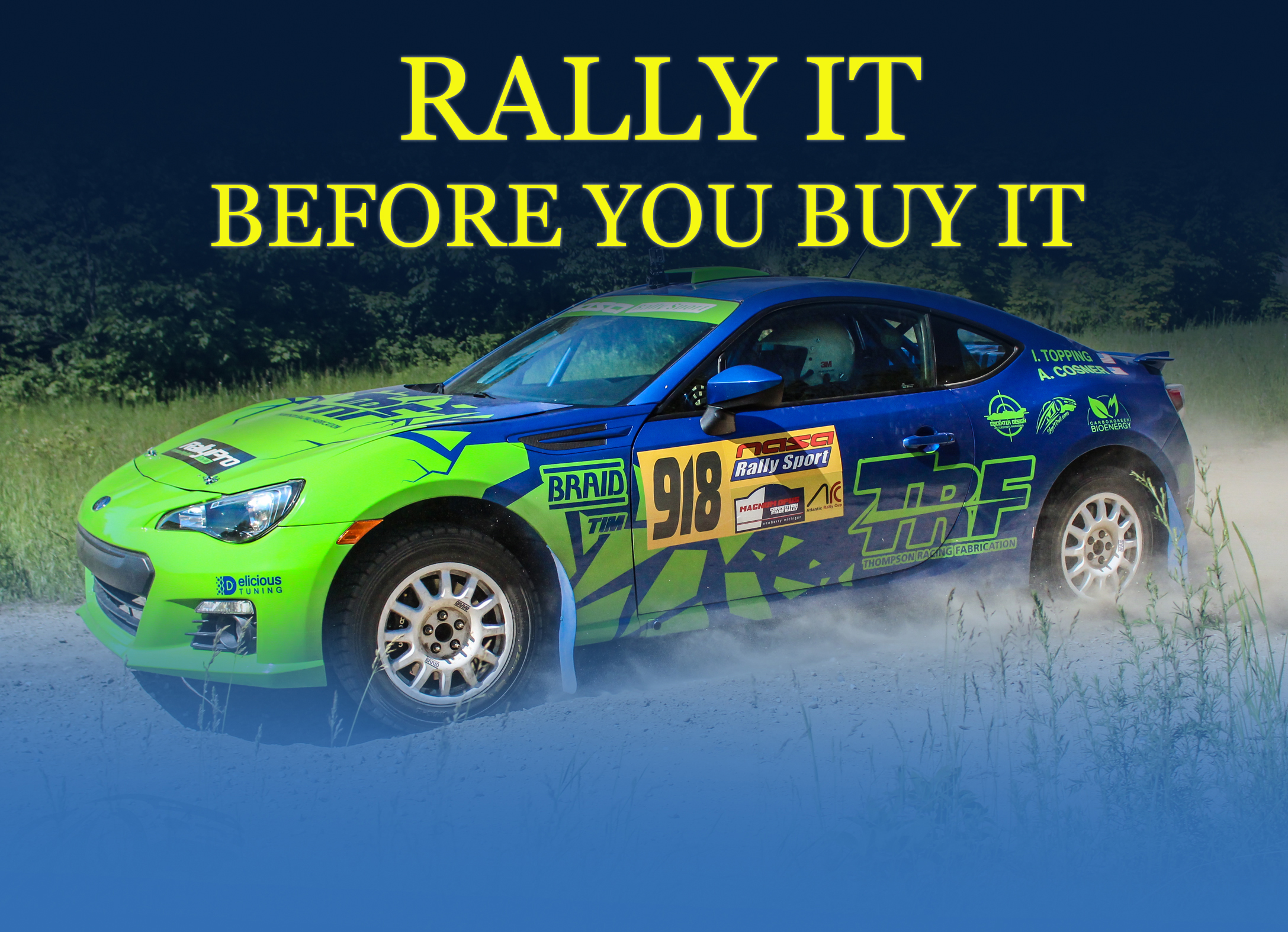 Rally Car Rental - Thompson Racing Fabrication