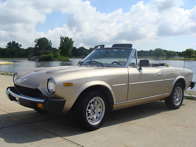 Stock Image Of 1980 Fiat Spider 2000